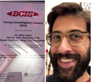 Dr Jaffar Khan wins 2018 Young Investigators Award