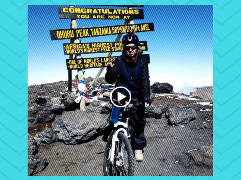first pakistani women samar khan scale African mountain on bicycle
