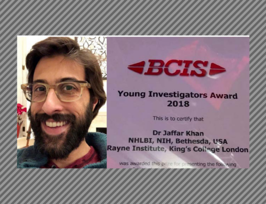 Dr Jaffar Khan wins 2018 Young Investigators Award